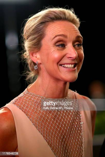 Laura McLachlan arrives ahead of the 2019 Brownlow Medal at Crown Palladium on September 23 2019 in Melbourne Australia
