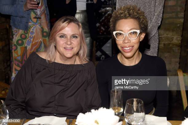 Laura McQuade and Amy Sherald attend ELLE x Stuart Weitzman celebration of Giovanni Morelli's debut collection for Stuart Weitzman hosted by Nina...