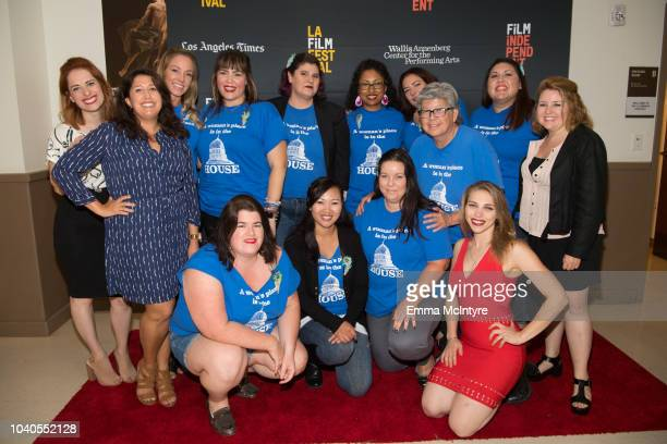 Laura Menino Lindsay Stidham Angela Gulner Alyson Bruno and guests attend the 2018 LA Film Festival 'Welcome to the Clambake' at Wallis Annenberg...