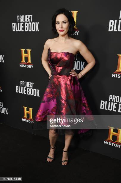 "Laura Mennell attends the LA premiere party for HISTORY's new drama ""Project Blue Book"" on January 3, 2019 in Los Angeles, California."