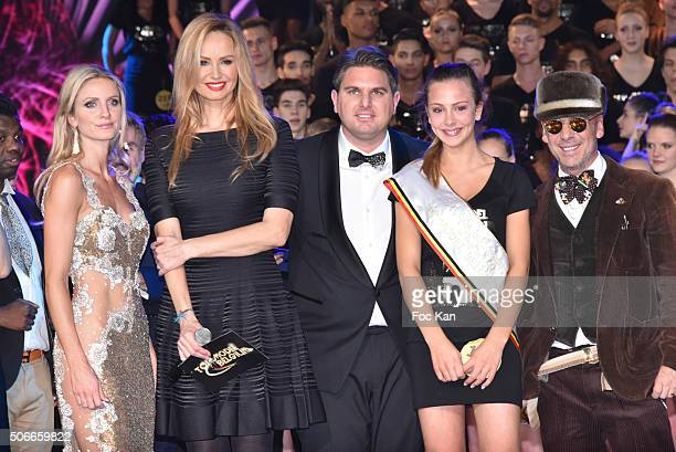 Laura Messia Adriana Karembeu Jeremy Urbain a Top model Belgium winner and Elvis Campilio attend the 'Top Model Belgium 2016' Ceremony at Le Lido on...