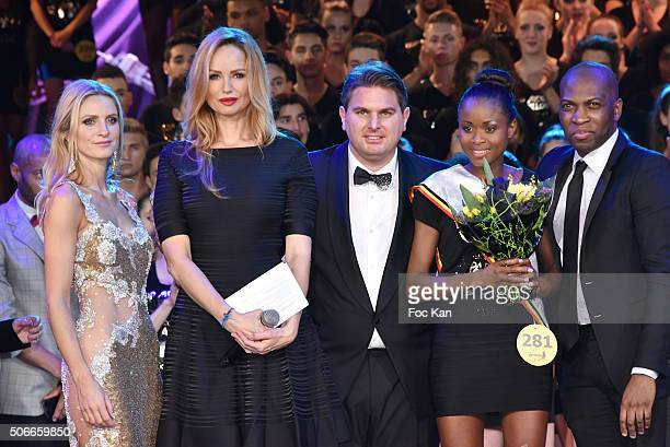 Laura Messia Adriana Karembeu Jeremy Urbain a Top model Belgium winner and Yannick attend the 'Top Model Belgium 2016' Ceremony at Le Lido on January...