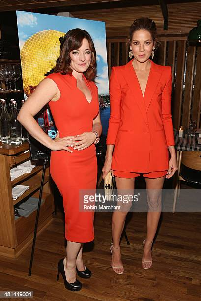 Laura Michelle Kelly and Michelle Monaghan attend a Dinner Honoring The Women Of 'Pixels' at Upland on July 20 2015 in New York City
