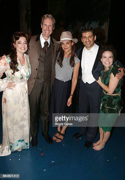 Laura Michelle Kelly as 'Sylvia Llewelyn Davies' Paul Slade Smith as 'Charles Frohman' Katie Holmes Tony Yazbeck as 'JM Barrie' and Amy Yakima as...