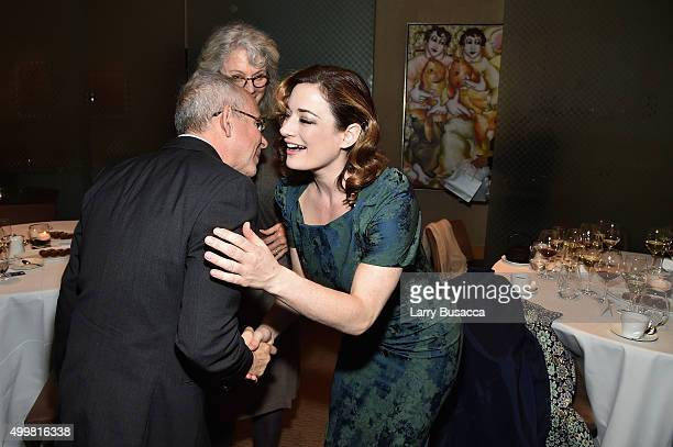 Laura Michelle Kelly attends the AARP Movies for Grownups Gala Countdown Lunch with actor/producer Michael Douglas 2016 Career Achievement Honoree on...
