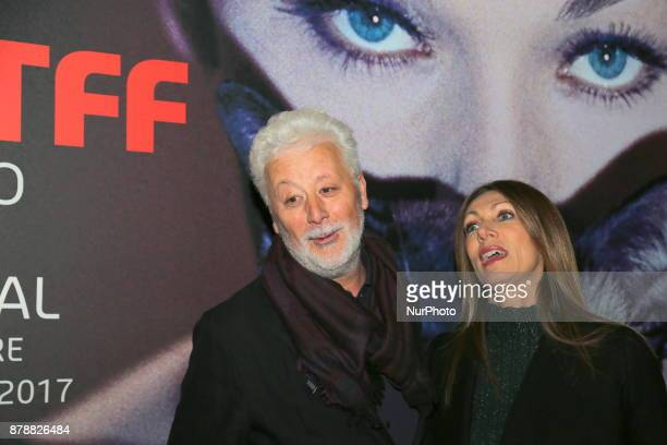 Laura Milani President of the Turin Cinema Museum with a guest during the opening ceremony of he 35nd edition of the Torino Film Festival on 24...