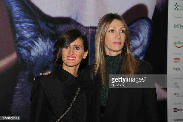 Laura Milani President of the Turin Cinema Museum with Alice Filippi during the opening ceremony of he 35nd edition of the Torino Film Festival on 24...