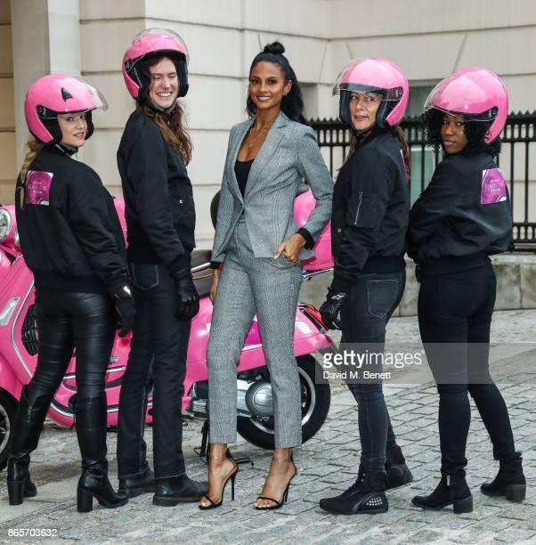 Laura Mokana Elaine Pigott Alesha Dixon Ana Repas and Corinne Aubee for Debenhams Beauty Club at The Lanesborough Hotel on October 24 2017 in London...