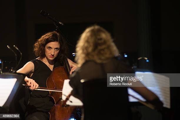 Laura Moody and Emma Smith of Elysian Quartet perform on stage at Queens Hall on November 27 2014 in Edinburgh United Kingdom