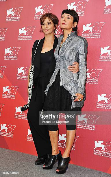 Laura Morante and Elisabetta Sgarbi attends the 'Se Hai Una Montagna Di Neve Tienila All'Ombra' photocall during the 67th Venice Film Festival at the...