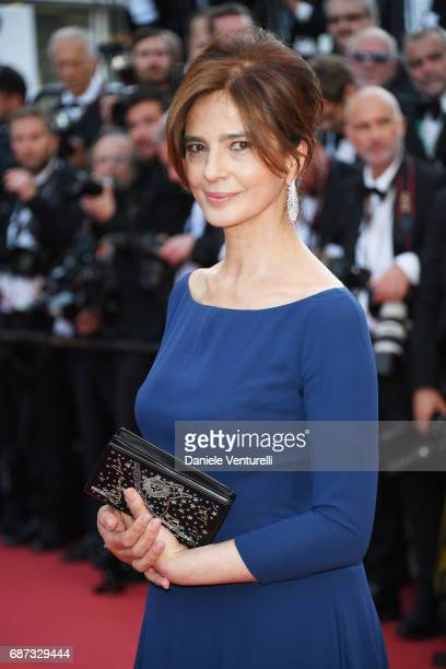 Laura Morante attends the 70th Anniversary screening during the 70th annual Cannes Film Festival at Palais des Festivals on May 23 2017 in Cannes...