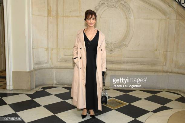 Laura Morante attends the Christian Dior Haute Couture Spring Summer 2019 show as part of Paris Fashion Week on January 21 2019 in Paris France