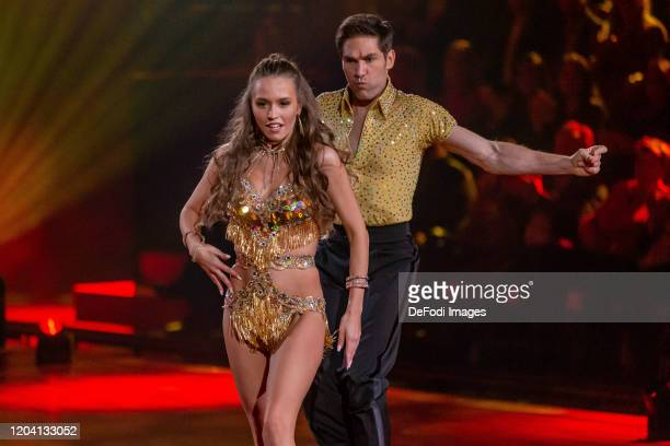 Laura Mueller and Christian Polanc looks on during the 1st show of the 13th season of the television competition Let's Dance on February 28 2020 in...