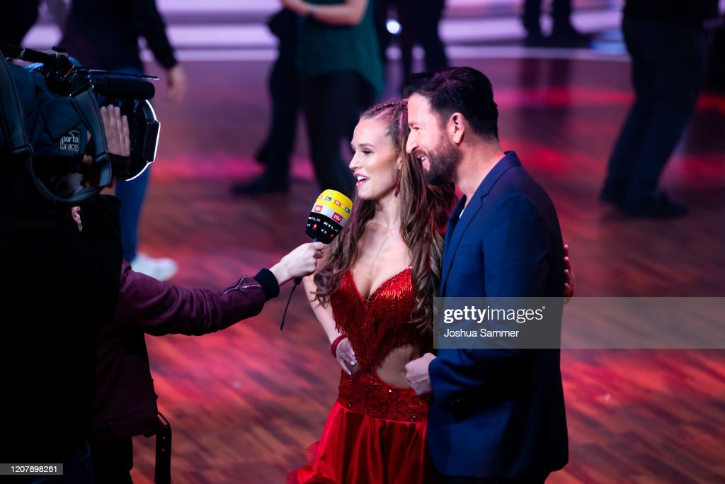 Laura Mueller And Michael Wendler Are Seen On Stage During The News Photo Getty Images