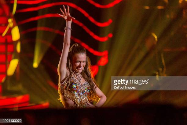 Laura Mueller looks on during the 1st show of the 13th season of the television competition Let's Dance on February 28 2020 in Cologne Germany