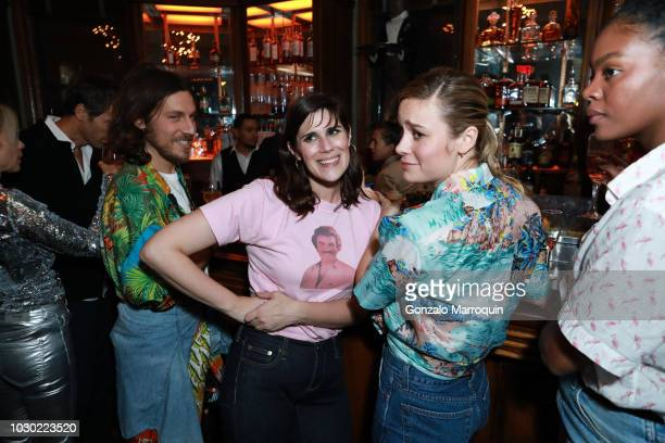 Laura Mulleavy and Brie Larson during the Rodarte SS19 After Party on September 9 2018 in New York City