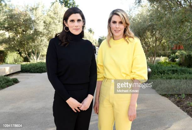 Laura Mulleavy and Kate Mulleavy attend JNSQ Rose Cru debuts alongside Rodarte FW/19 Runway Show at Huntington Library on February 5 2019 in Pasadena...