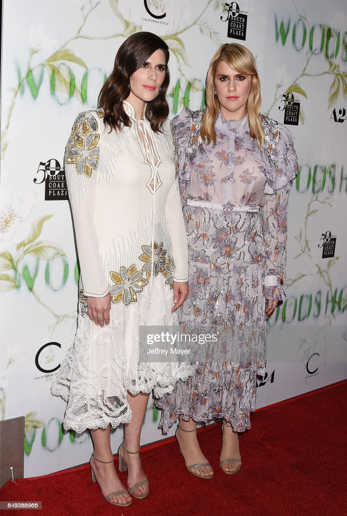 Laura Mulleavy (L) and Kate Mulleavy attend the premiere of A24's 'Woodshock' at the ArcLight Cinemas on September 18, 2017 in Hollywood, California.