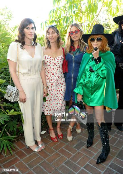 Laura Mulleavy Gia Coppola Atlanta De Cadenet Taylor and Linda Ramone attend CFDA/Vogue Fashion Fund Show and Tea at Chateau Marmont at Chateau...