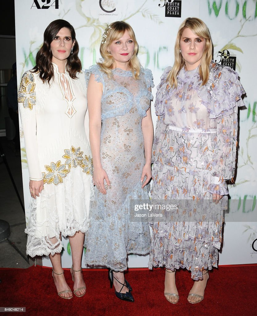 Laura Mulleavy, Kirsten Dunst and Kate Mulleavy attend the premiere of 'Woodshock' at ArcLight Cinemas on September 18, 2017 in Hollywood, California. (Photo by Jason LaVeris/FilmMagic