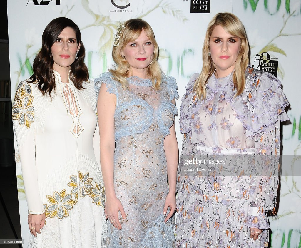Laura Mulleavy, Kirsten Dunst and Kate Mulleavy attend the premiere of 'Woodshock' at ArcLight Cinemas on September 18, 2017 in Hollywood, California.