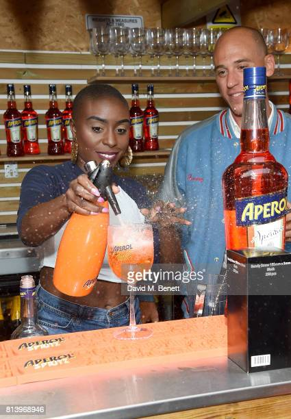 Laura Mvula attends the Aperol Spritz Social on July 13 2017 in London England