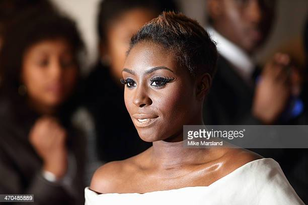 Laura Mvula attends The BRIT Awards 2014 at 02 Arena on February 19 2014 in London England