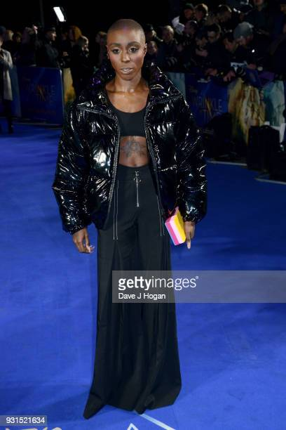 Laura Mvula attends the European Premiere of 'A Wrinkle In Time' at BFI IMAX on March 13 2018 in London England