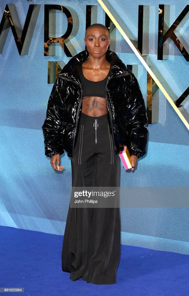 Laura Mvula attends the European Premiere of 'A Wrinkle In Time' at BFI IMAX on March 13, 2018 in London, England.