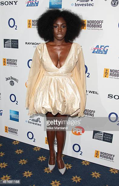 Laura Mvula attends the Nordoff Robbins 02 Silver Clef awards at London Hilton on July 4 2014 in London England