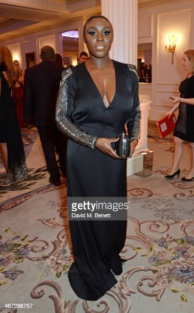 Laura Mvula attends The Prince's Trust Invest In Futures dinner at The Savoy Hotel on February 6 2014 in London England