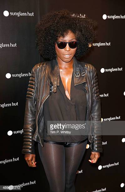 Laura Mvula attends the Sunglass Hut Unwrap Something Shady event at Sunglass Hut on November 26 2014 in London England
