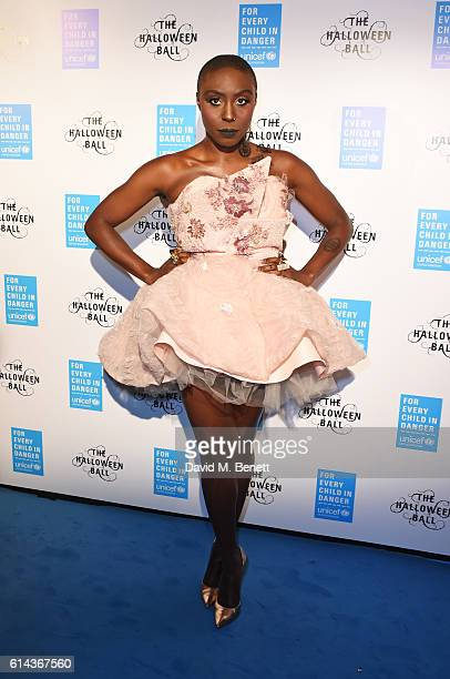 Laura Mvula attends the Unicef UK Halloween Ball raising vital funds to support Unicef's lifesaving work for Syrian children in danger at One...
