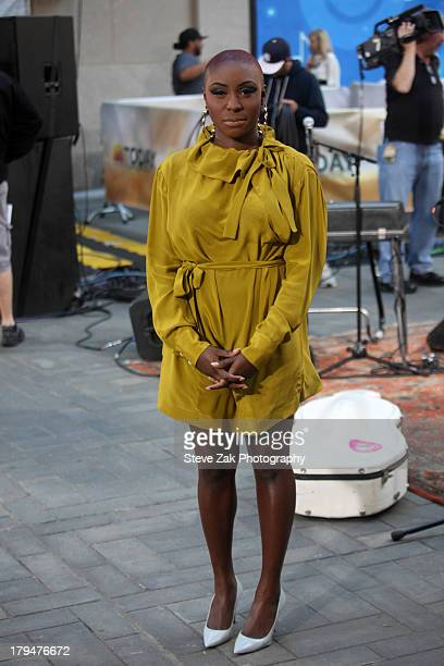 Laura Mvula peforms on NBC's 'Today' Show at Rockefeller Plaza on September 4 2013 in New York City