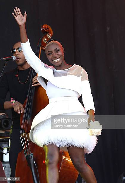 Laura Mvula performs at day 3 of the 2013 Glastonbury Festival at Worthy Farm on June 29 2013 in Glastonbury England