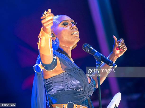 Laura Mvula performs at Somerset House on July 10 2016 in London England