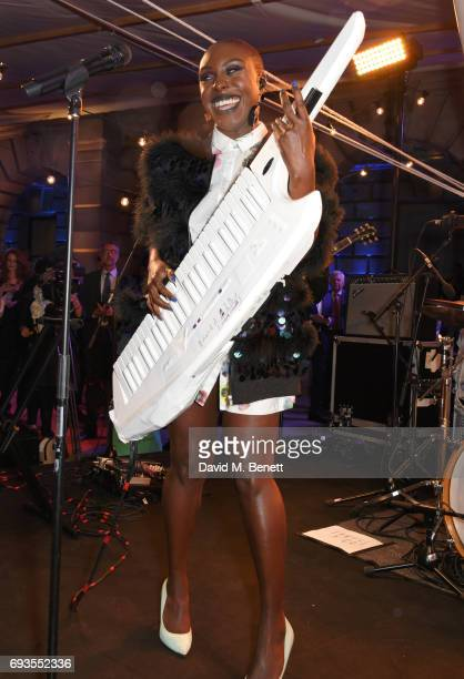 Laura Mvula performs at the Royal Academy Of Arts Summer Exhibition preview party at Royal Academy of Arts on June 7 2017 in London England