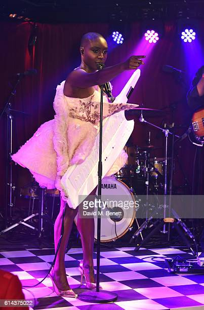 Laura Mvula performs at the Unicef UK Halloween Ball raising vital funds to support Unicef's lifesaving work for Syrian children in danger at One...