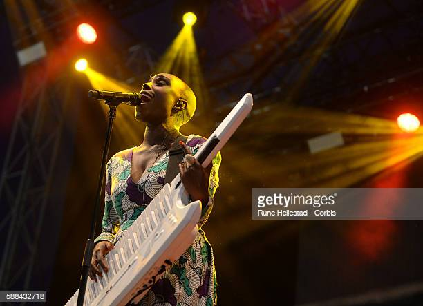 Laura Mvula performs at the Way Out West festival in Slottsskogen on August 11 2016 in Gothenburg Sweden