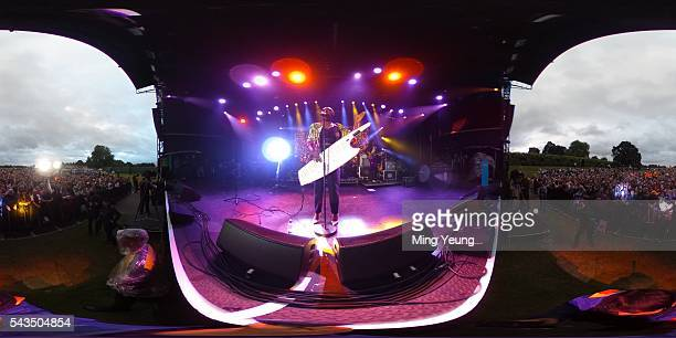 Laura Mvula performs during the Sentebale Concert at Kensington Palace on June 28 2016 in London England