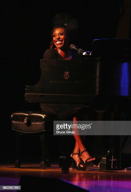 Laura Mvula performs in the New York debut of the hit show 'Letters Live' at Town Hall on May 19 2018 in New York City