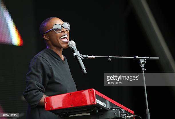 Laura Mvula performs on Day 1 of the Victorious Festival at Southsea Seafront on August 29 2015 in Portsmouth England
