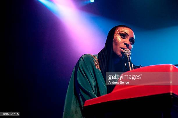 Laura Mvula performs on stage at Ritz Manchester on October 9, 2013 in Manchester, England.