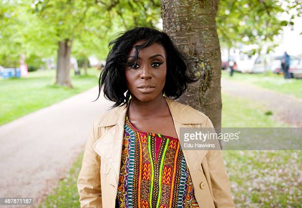 Laura Mvula seen backstage during Cheltenham Jazz Festival on May 2 2014 in Cheltenham United Kingdom