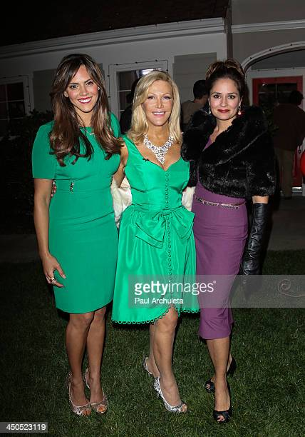 Laura Nativo Kym Douglas and Tanya Memme attend the Hallmark Channel's Home Family Holiday Special at Universal Studios Hollywood on November 18 2013...