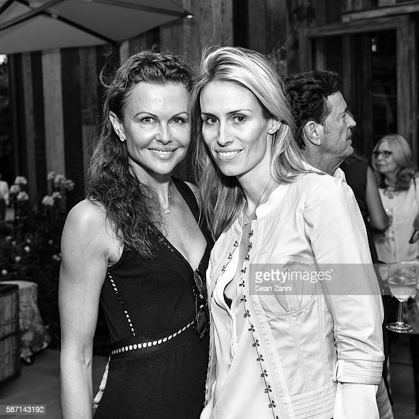 Laura Nicklas and Carola Jain attend Celebration of Steinway Spirio Hosted by Joan and George Hornig and Steinway Sons at Private Residence on August...