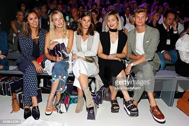 Laura Noltemeyer Leonie Sophie Hanne Nina Schwichtenberg Masha Sedgwick and Patrick Kahlo attend the Laurel show during the MercedesBenz Fashion Week...