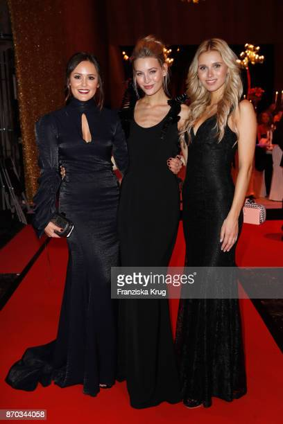 Laura Noltemeyer Mandy Bork and Scarlett Gartmann during the aftershow party during the 24th Opera Gala at Deutsche Oper Berlin on November 4 2017 in...