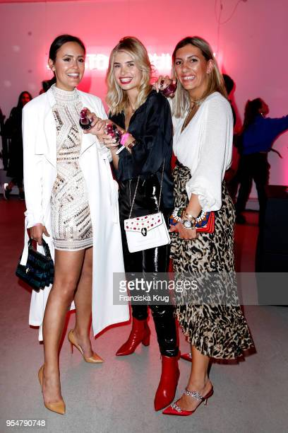Laura Noltemeyer Xenia Overdose and Aylin Koenig during the Bulgari Omnia Pink Sapphire party on May 4 2018 in Berlin Germany