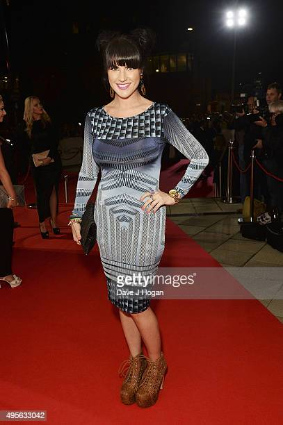 Laura Norton attends the MOBO Awards at First Direct Arena on November 4, 2015 in Leeds, England.